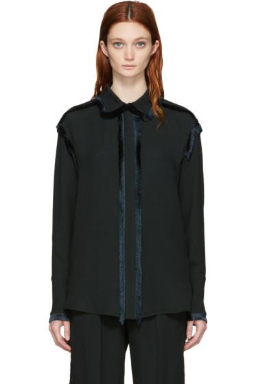 Stella McCartney - Green Fringe Shirt