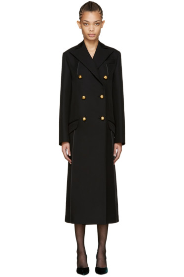 Nina Ricci - Black Double-Breasted Coat