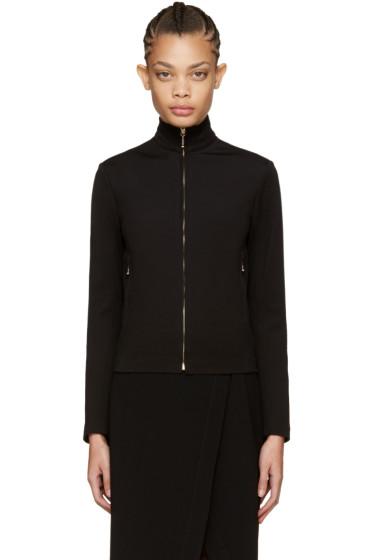 Nina Ricci - Black Zip-Front Sweater