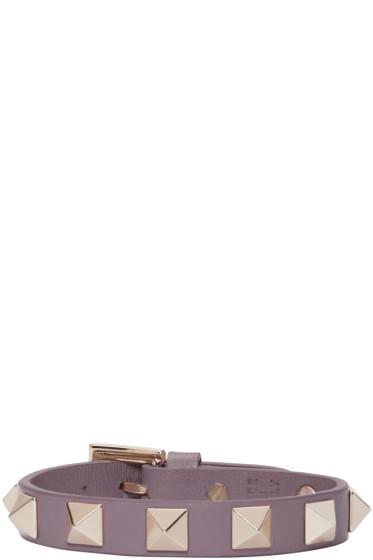 Valentino - Purple Leather Rockstud Bracelet