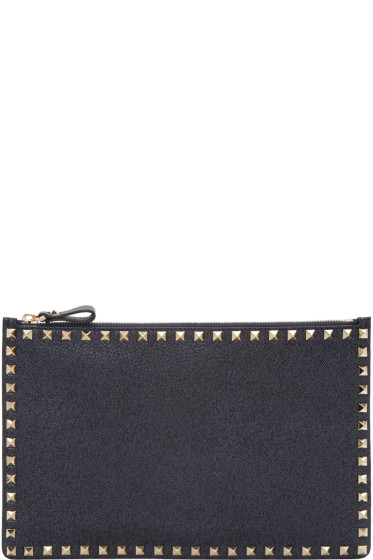 Valentino - Navy Large Rockstud Pouch