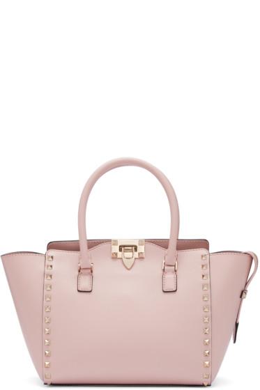 Valentino - Pink Small Rockstud Tote