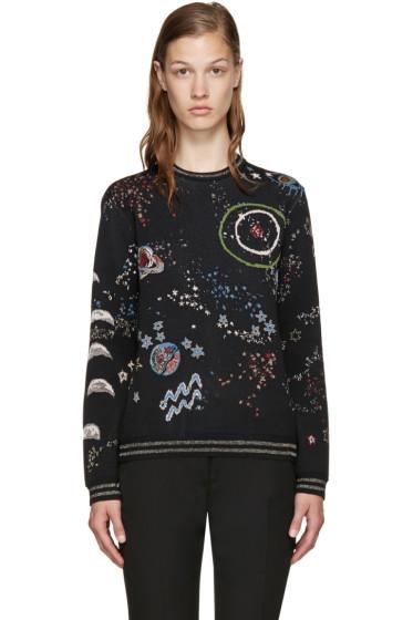 Valentino - Black Jacquard Astro Sweater