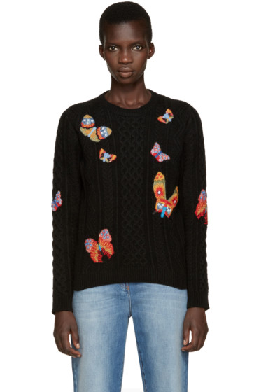 Valentino - Black Butterfly Knit Crewneck