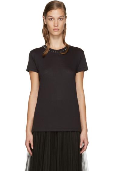 Valentino - Black Rockstud T-Shirt