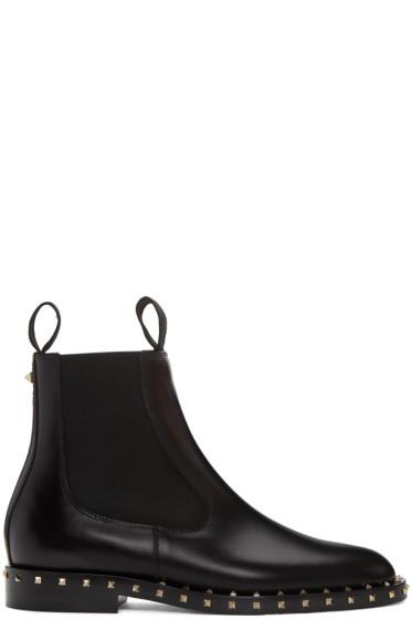 Valentino - Black Soul Stud Chelsea Boots