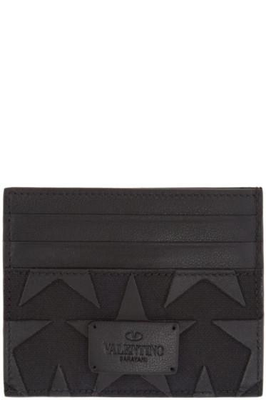 Valentino - Black Star Card Holder