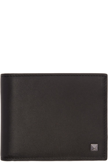 Valentino - Black Single Rockstud Wallet