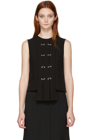 J.W.Anderson - Black Rings & Eyelet Pleated Top