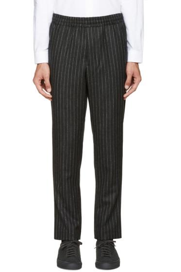 AMI Alexandre Mattiussi - Grey Pinstripe City Trousers