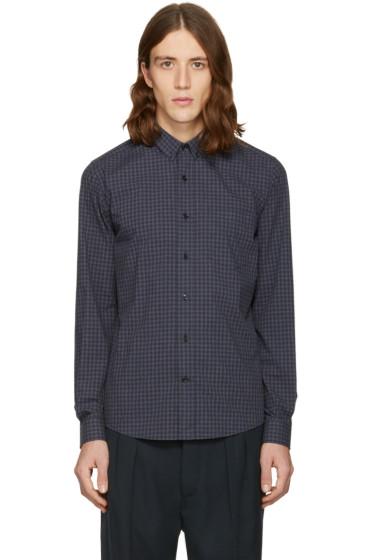 AMI Alexandre Mattiussi - Grey & Navy Check Vichy Shirt