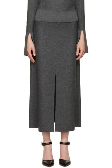 Calvin Klein Collection - Grey Wool Hova Skirt