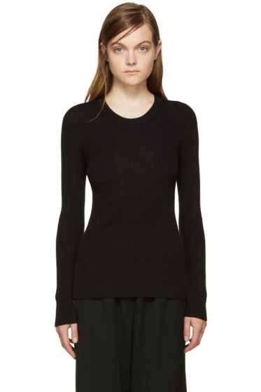 Calvin Klein Collection - Black Ribbed Pullover