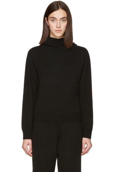 Calvin Klein Collection - Black Cashmere Camino Hoodie