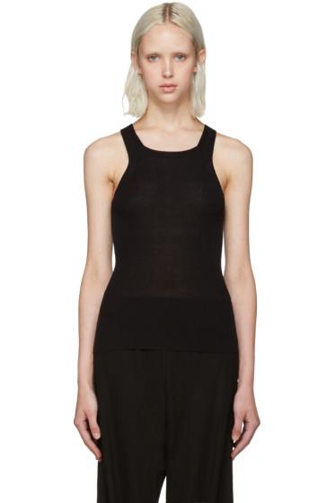 Calvin Klein Collection - Black Ribbed Tank Top