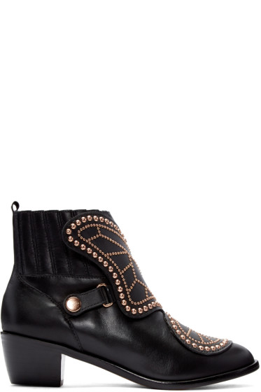 Sophia Webster - Black Karina Butterfly Boots