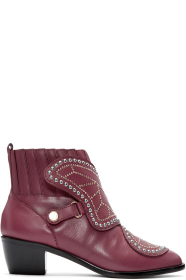 Sophia Webster - Red Karina Butterfly Boots