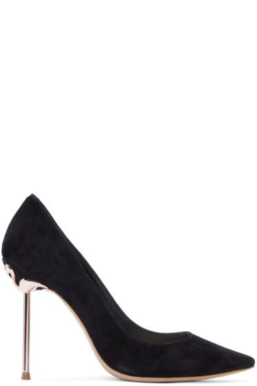 Sophia Webster - Black Suede Coco Flamingo Heels