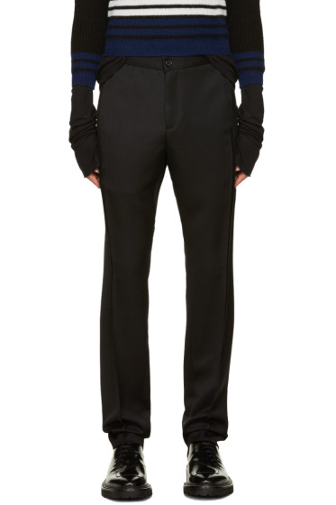 Yang Li - Black Twisted Seam Trousers