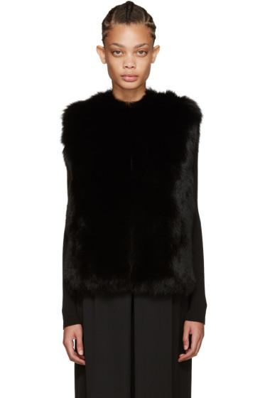 Meteo by Yves Salomon - Black Fox Fur Vest