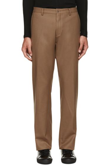 08Sircus - Brown Wool Flannel Trousers