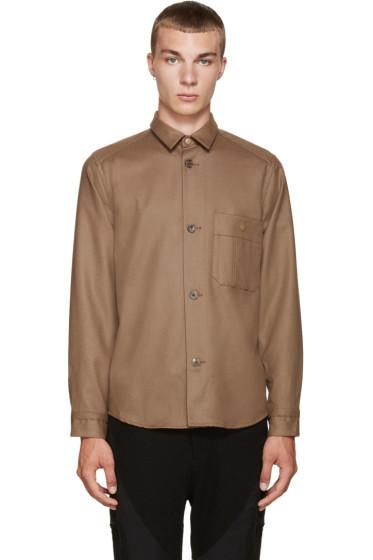 08Sircus - Brown Wool Flannel Shirt
