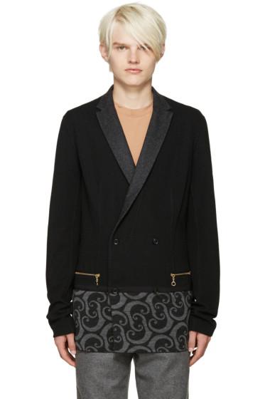 Kolor - Black Printed Panel Blazer