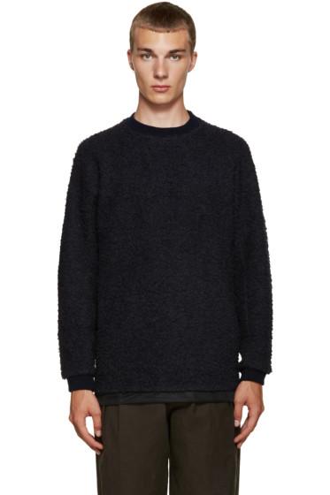 Kolor - Navy Textured Pullover