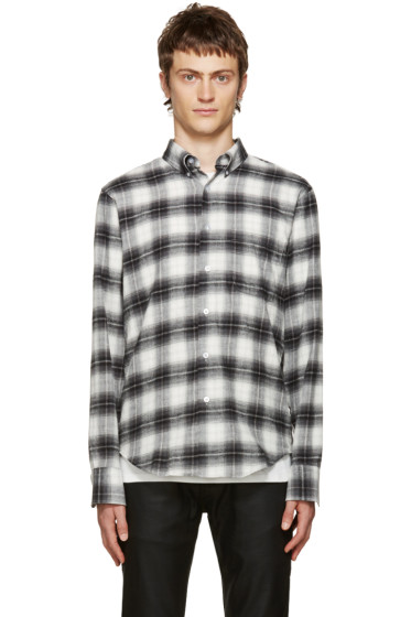 Naked & Famous Denim - Grey Flannel Plaid Shirt