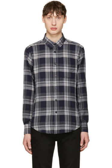 Naked & Famous Denim - Grey Soft Check Shirt