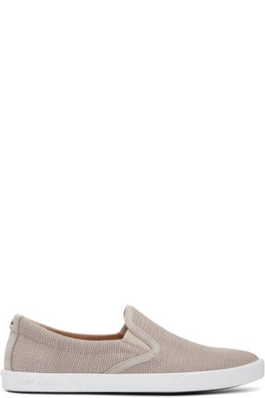 Jimmy Choo - Pink Embossed Demi Slip-On Sneakers