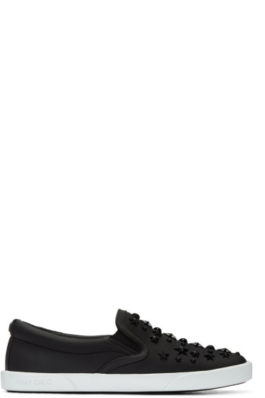 Jimmy Choo - Black Stars Demi Slip-On Sneakers