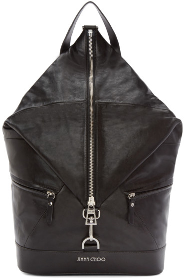 Jimmy Choo - Black Fitzroy Leather Backpack