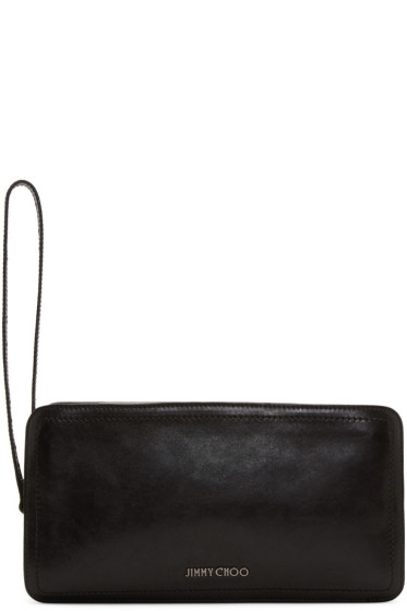 Jimmy Choo - Black Leather Dobb Pouch
