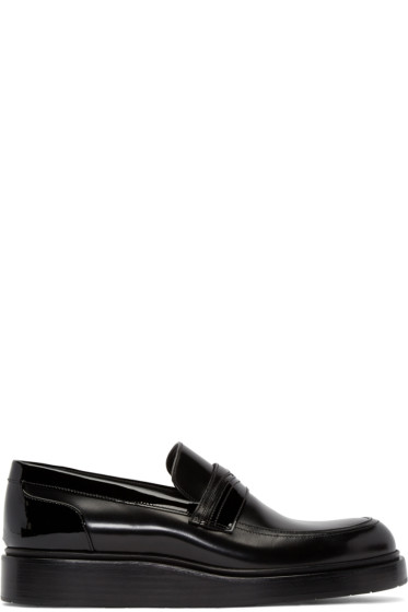 Jimmy Choo - Black Leather Mitch Loafers