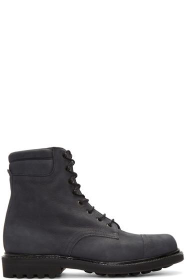 Robert Clergerie - Navy Dav Btlcl Boots