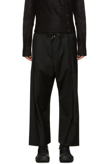 D.Gnak by Kang.D - Black Drawstring Trousers