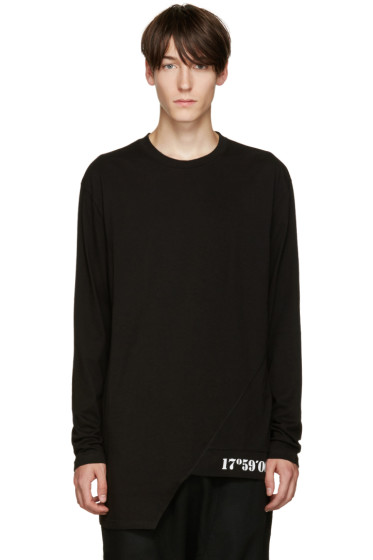 D.Gnak by Kang.D - Black Oblique Hem T-Shirt
