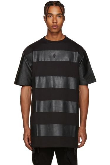 Marcelo Burlon County of Milan - Black Panelled T-Shirt