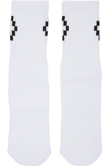 Marcelo Burlon County of Milan - White & Black Cruz Socks