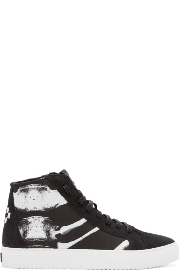 Marcelo Burlon County of Milan - Black Skeleton High-Top Sneakers