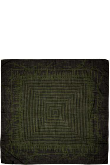 Haider Ackermann - Black & Green Patterned Scarf