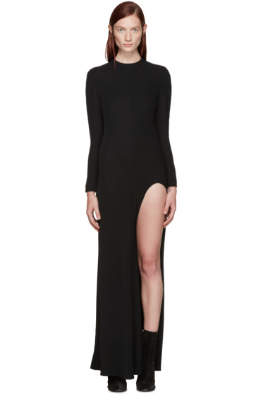 Haider Ackermann - Black Cut-Out Dress