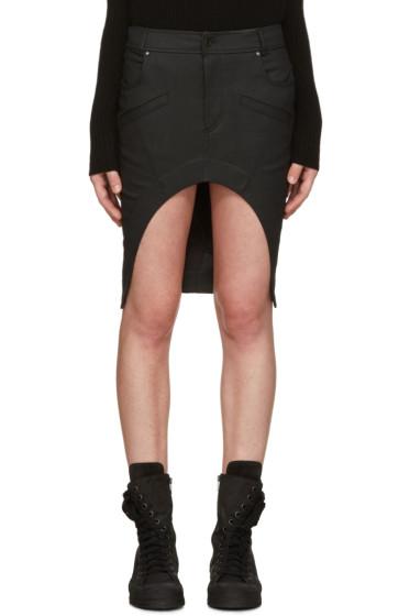 Haider Ackermann - Black Asymmetric Denim Miniskirt