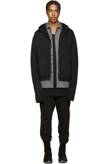 Haider Ackermann - Black Zip-Up Hoodie