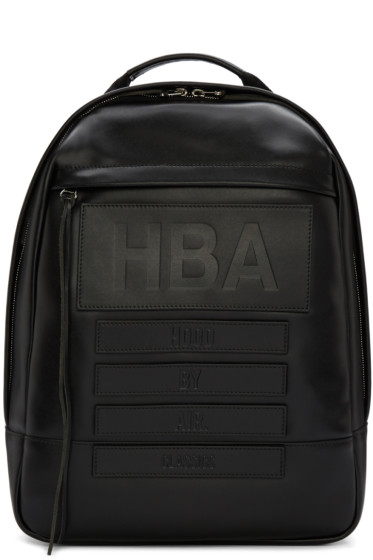 Hood by Air - Black Leather Moma Backpack