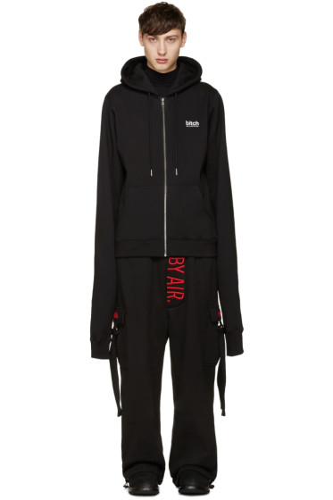 Hood by Air - Black 'Bitch' Hoodie