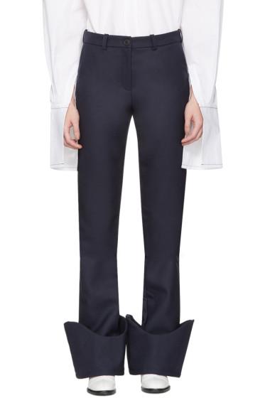Jacquemus - Navy 'Le Pantalon à Revers' Trousers
