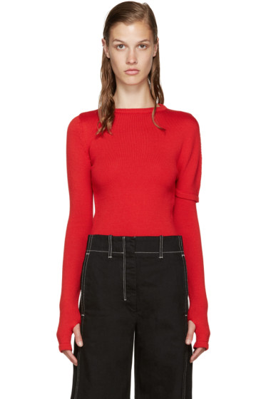 Jacquemus - Red Asymmetric Sweater