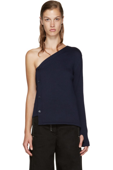 Jacquemus - Navy Single-Shoulder Cardigan